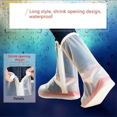 Newest Rainproof Shoe Covers Zipper Overshoe Antiskid Sole Waterproof Protector