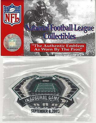 2003 Philadelphia Eagles Lincoln Financial Field Stadium Inaugural Game Patch