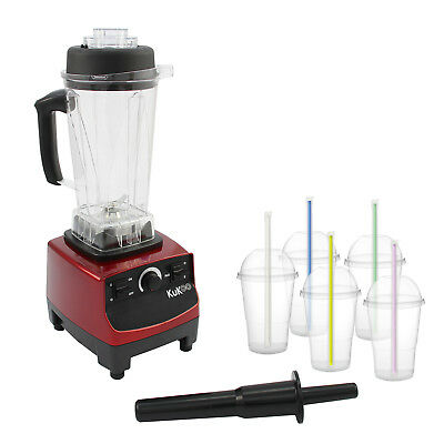 Food Blender Mixer Smoothie Heavy Duty Commercial Milkshake Soup Maker Juicer