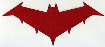 Batman / Red Hood Embroidered Logo Iron-on Patch:  Choice of Sizes
