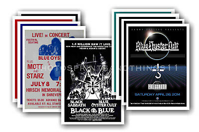 BLUE OYSTER CULT  - 10 promotional posters - collectable postcard set # 1