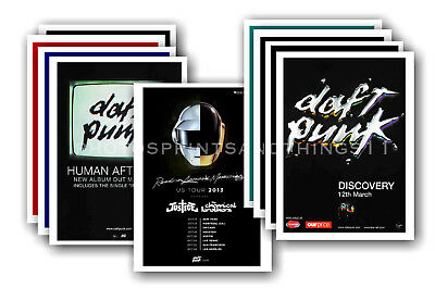 DAFT PUNK  - 10 promotional posters - collectable postcard set # 1