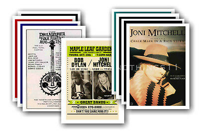 JONI MITCHELL - 10 promotional posters - collectable postcard set # 1