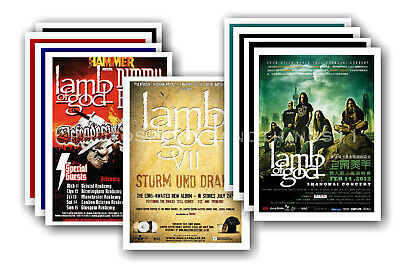 LAMB OF GOD - 10 promotional posters - collectable postcard set # 1