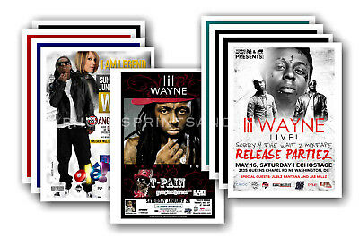 LIL WAYNE - 10 promotional posters - collectable postcard set # 1