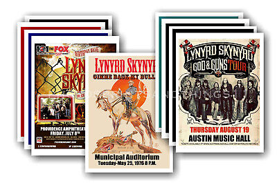LYNRYD SKYNYRD - 10 promotional posters - collectable postcard set # 1