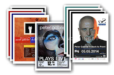 PETER GABRIEL - 10 promotional posters - collectable postcard set # 2