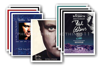 PHIL COLLINS - 10 promotional posters - collectable postcard set # 1