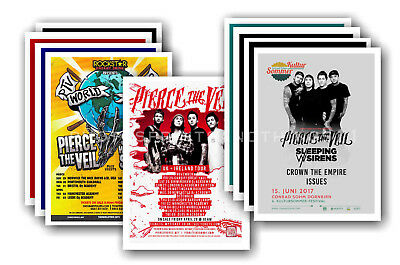 PIERCE THE VEIL  - 10 promotional posters - collectable postcard set # 1