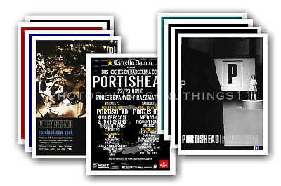 PORTISHEAD - 10 promotional posters - collectable postcard set # 1