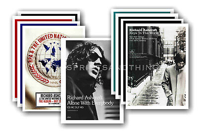 RICHARD ASHCROFT - 10 promotional posters - collectable postcard set # 1