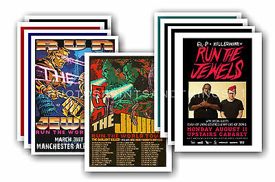 RUN THE JEWELS - 10 promotional posters - collectable postcard set # 1