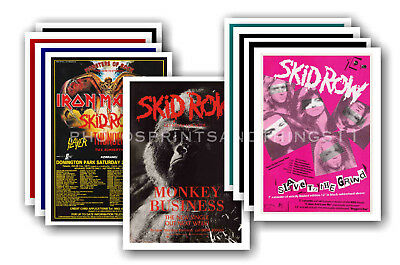 SKID ROW - 10 promotional posters - collectable postcard set # 1