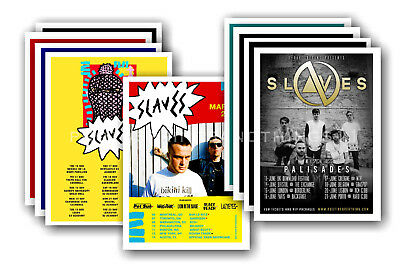 SLAVES - 10 promotional posters - collectable postcard set # 1
