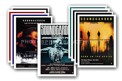 SOUNDGARDEN - 10 promotional posters - collectable postcard set # 1