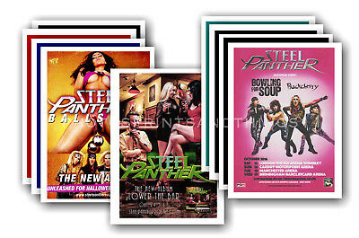 STEEL PANTHER - 10 promotional posters - collectable postcard set # 1