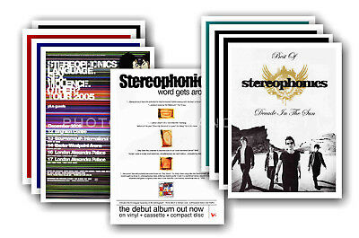 STEREOPHONICS - 10 promotional posters - collectable postcard set # 1