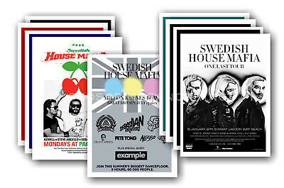 SWEDISH HOUSE MAFIA - 10 promotional posters - collectable postcard set # 1