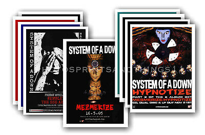 SYSTEM OF A DOWN - 10 promotional posters - collectable postcard set # 1