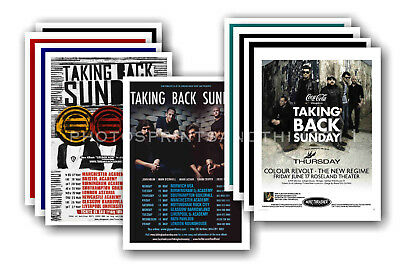 TAKING BACK SUNDAY - 10 promotional posters - collectable postcard set # 1