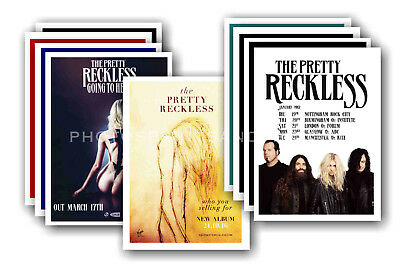THE PRETTY RECKLESS - 10 promotional posters - collectable postcard set # 1