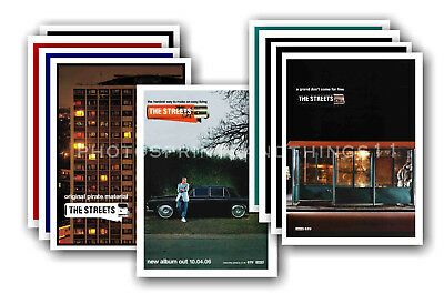 THE STREETS - 10 promotional posters - collectable postcard set # 1