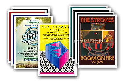 THE STROKES - 10 promotional posters - collectable postcard set # 1