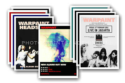 WARPAINT - 10 promotional posters - collectable postcard set # 1