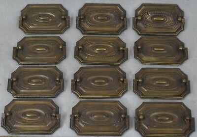 antique drawer pulls metal plates drop handle 12 matching antique brass