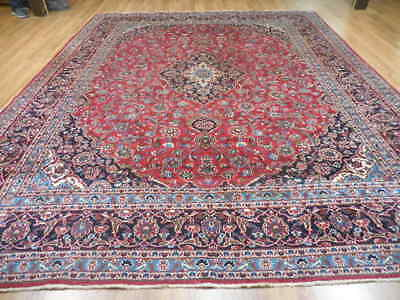 Ca1940 VG DY ANTIQUE PERSIAN CLASSIC ESFAHANIYAN KASHAN 10x12 ESTATE SALE RUG