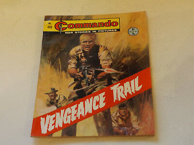 Commando War Comic Number 493,1970 Issue,v Good For Age,47 Years Old,very Rare.