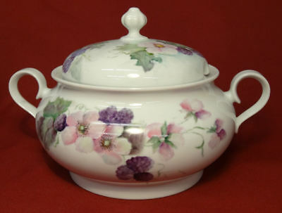 Vintage Hand Painted BLACKBERRY BLACKBERRIES Holiday Soup Tureen -Bareuther