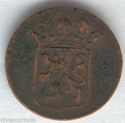 India Dutch Duit 1780 copper @ Beautiful specimen @@