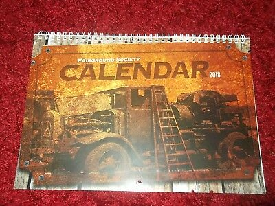 2018 Calendar from The Fairground Society Brand New!!