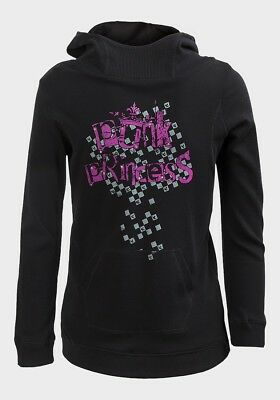 Girls Punk Princess Logo Hoodie Ethel Austin Black Age 8 - 13 Free P+P