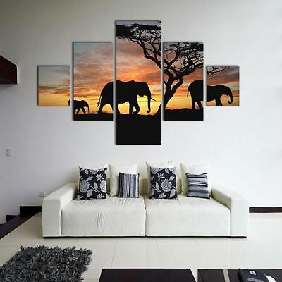 Modern Abstract Huge Wall Art Oil Painting On Canvas Elephant No Framed Z