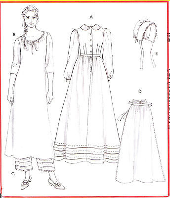 Misses Early American Costume PATTERN Chuck Wagon 10-12-14-16 OOP McCalls 4548