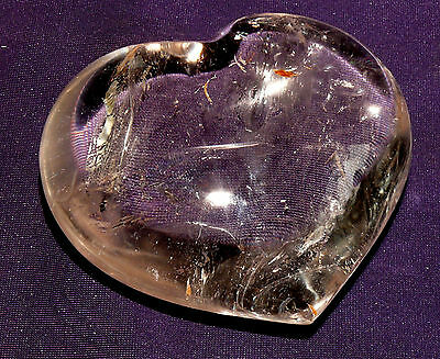 Nice Heart Rock Crystal Polished, 254,4g 80x71x34mm, Healing Stone