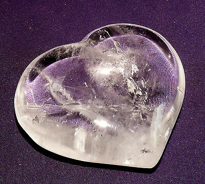 Heart Rock Crystal Polished, 225,8g 79x71x31mm, Healing Stone