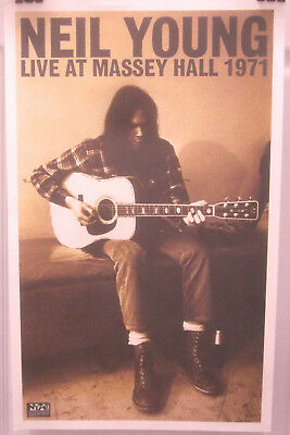 Neil Young - LIVE AT MASSEY HALL 1971 Ltd. Edition Promo Poster [2007] - VG++