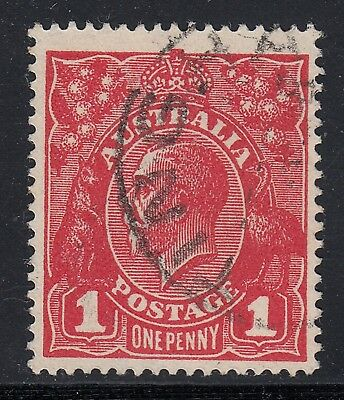 1918 1d DEEP BRIGHT RED KGV DIE III, FINE USED