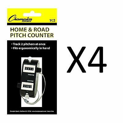 Champion Home/Road Dual Baseball And Softball Pitch Tally Counter (4-Pack)