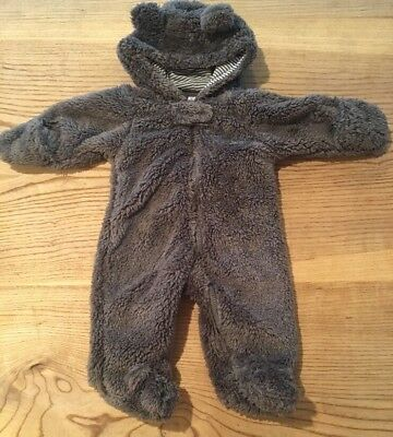 NB Carter's hooded sherpa fleece baby bear bunting NEW Without Tags, Snowsuit