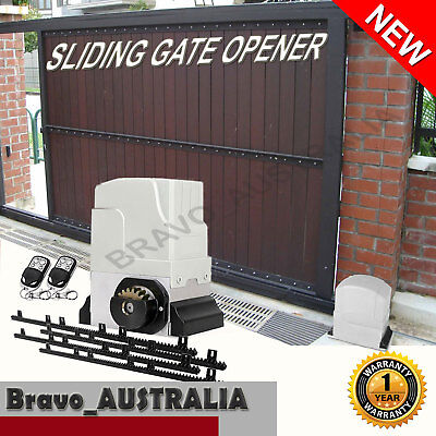 Automatic Electric Sliding Gate Opener - Max 1800kg 2 Remotes 4m Rail Auto
