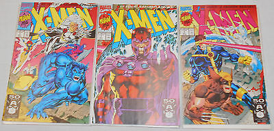 Marvel Comics Oct 91 X-Men 1st issue! A Legend Reborn Lot of 3 Different Covers