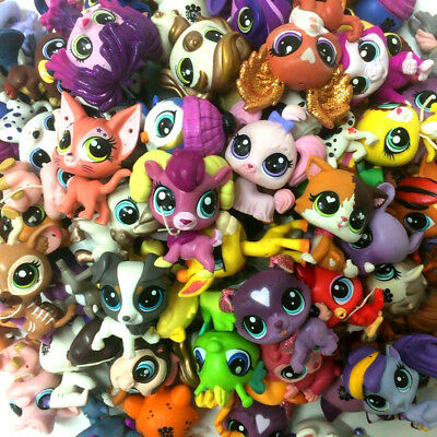 Littlest Pet Shop Lot - Random 5PCS Animals Cat Dog Hasbro LPS Figure Toy Gift