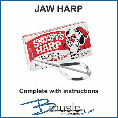 NEW Snoopy's Jaw Harp - Deluxe Chrome Plated Harp with Tempered Steel Tongue