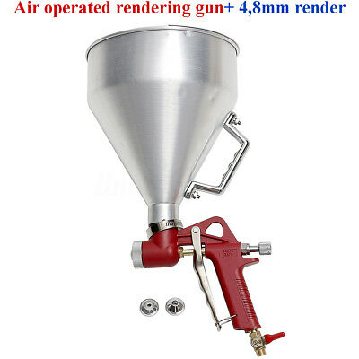 """3L 1/4"""" Texture Hopper Sprayer Air Operated Rendering Gun Silicone Tyrolean Wall"""