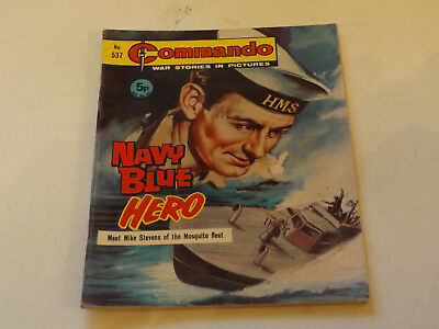 Commando War Comic Number 537,1971 Issue,v Good For Age,46 Years Old,very Rare.