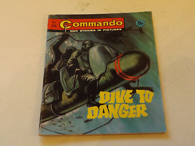 Commando War Comic Number 550,1971 Issue,v Good For Age,46 Years Old,very Rare.